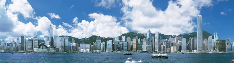View of Hong Kong harbour