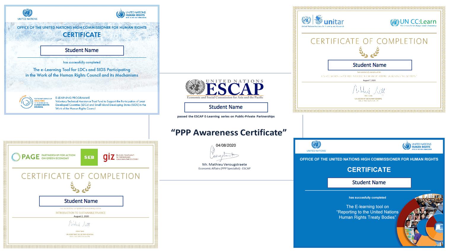 Take UN certificate courses