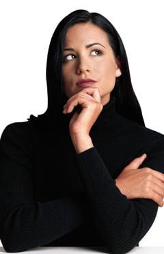 A women thinking